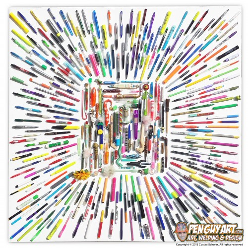 Costas_Schuler_Pen_Guy_Art_Recycle_Pen_Art_All_Warp_Speed_II